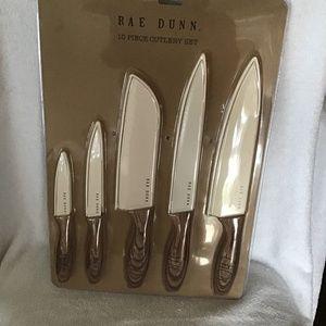 Rae Dunn 10 pce Knife set with sleeves